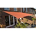 Floracord 06-77-07-49 Vierecksonnensegel mit Regenschutz 3 x 4 m inklusive Zubehör mit dauerelastischen Spanngurten…