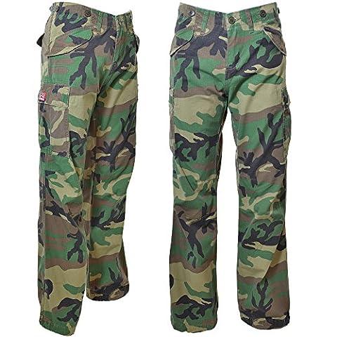 Mesdames Jungle Cargo Jeans 45041–100% coton coupe slim Combat pour Homme - vert - 40