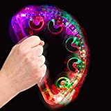 Musical Flashing Tambourine, Music Rattle Musical Tamburello Shaker KTV Party Ritmo Battito giocattolo