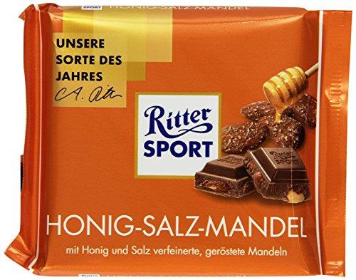 Ritter Sport 100 g Honig-Salz-Mandel Tafelschokolade, 11er Pack (11 x 100 g) (Salz Und Honig)
