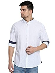 United Colors of Benetton Mens Printed Slim Fit Cotton Casual Shirt (17A5SM46U008I902XL_Beige_XL)