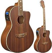 Lindo Feeling - Guitarra electroacústica (con preamplificador, afinador digital, conector XLR/conectores hembr