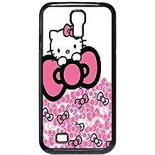 Hello Kitty O1X17U8JR funda Samsung Galaxy S4 9500 funda caso Q4XY0U negro
