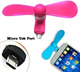 eCosmos (TM) Mobile Phone Mini Fan with Micro Pin for Andriod Devices USB Fan