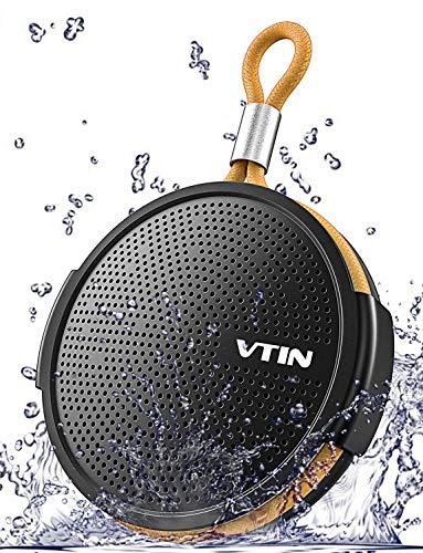 VTIN Q1 Enceinte Bluetooth Portable, Etanche IPX5 Haut-Parleur avec 10H de lecture, 8W Super Basse et Son HD, Bluetooth 4.2, Mini Enceinte la Douche Parfait pour Plage, Piscine, Cuisine et Maison