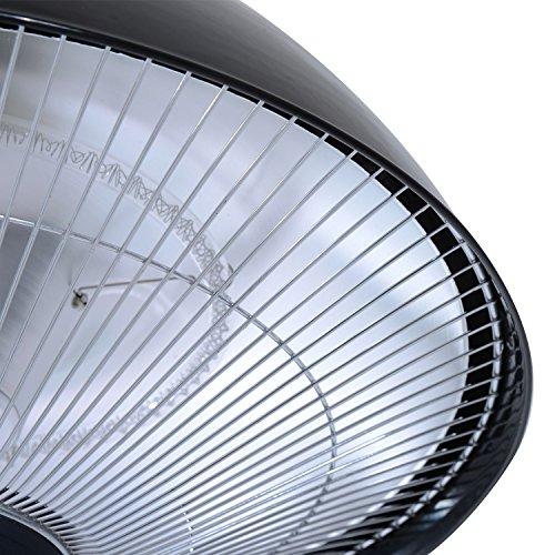 Outsunny® Elektrischer Terrassenstrahler Heizstrahler Infrarotstrahler schwarz/silber 1500W/2000W Decken/Wandmontage/Standheizstrahler (Modell3); - 9