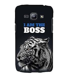 FUSON The Boss Tiger 3D Hard Polycarbonate Designer Back Case Cover for Samsung Galaxy J1 (2015) :: Samsung Galaxy J1 4G (2015) :: Samsung Galaxy J1 4G Duos :: Samsung Galaxy J1 J100F J100Fn J100H J100H/Dd J100H/Ds J100M J100Mu