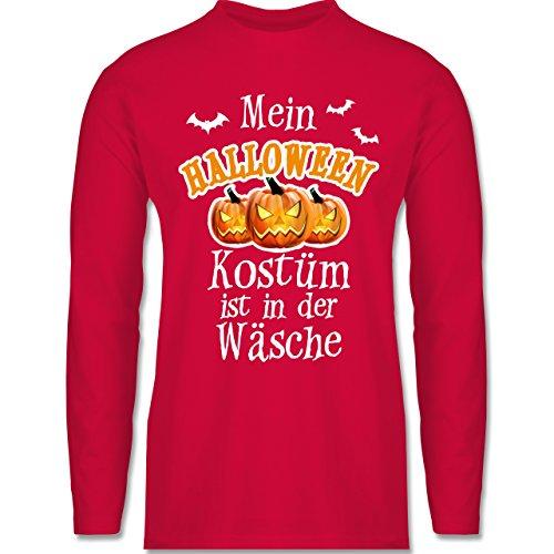 Shirtracer Halloween - Mein Halloween Kostüm ist in der Wäsche - Herren Langarmshirt Rot