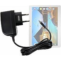 Cargador (2 Amperios) Para La tablet YUNTAB K107 - Con Conexión Micro USB Y Enchufe Europeo De Pared - Certificado Por La CE - DURAGADGET - DURAGADGET