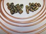 Mazda 3/40,6cm 25Ft Kupfer Bremse Rohr mit 20Muttern/Gewerkschaften 10x männlich 10x weiblich Linien Rolle Flexible Bremse 10mm x 1mm
