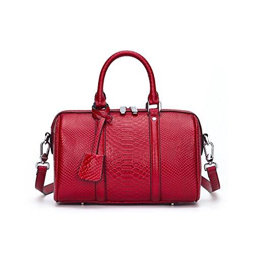Yvonnelee delle donne di modo del sacchetto di cuoio della borsa spalla dell'unità di elaborazione borsa a tracolla pelle Shopper elegant Borse
