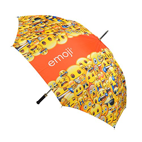 Emoji Auto offen Muster Single Canopy Umbrella–Gelb, 152,4cm