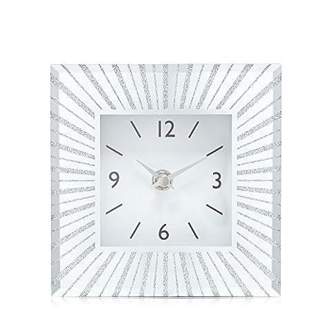 London Clock Silver Square