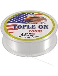 100 M 328 m 0,35 mm Diamètre 11 kg Blanc Transparent Rouleau de fil à pêche en Nylon