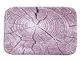SSQCXO Moderno Casa Tappetino Antiscivolo Lavabile a Macchina Velluto Corallo Viola Tronco d'albero Tappeto 40 * 60 cm