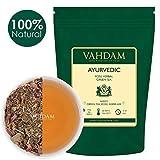 Tisane Ayurvédique (50 tasses), 21 HERBES, thé 100% naturel, feuilles de thé vert biologiques mélangées à 21 herbes médicinales de l'Inde, servir chaud ou glacé, 100 gr