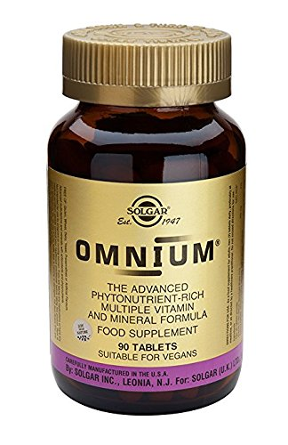 Solgar Omnium - 90 Tabletten - Advanced Phyto-Nährstoff, Multi-Vitamin & Mineral-Formel -