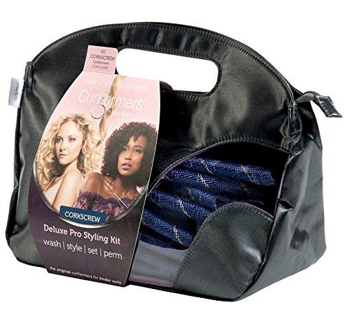 Curlformers Deluxe Range Styling Kit Corkscrew Curls for Long Hair
