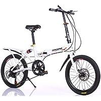 LETFF Bicicleta Plegable para Adultos 20 Pulgadas para niños y niñas Que cambian de Bicicleta de