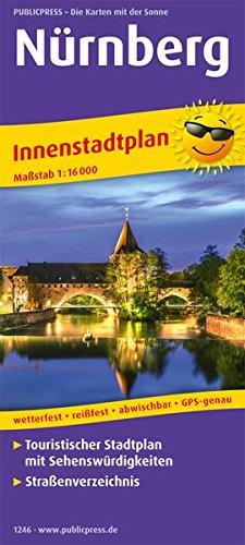 Nürnberg: Touristischer Innenstadtplan mit Sehenswürdigkeiten und Straßenverzeichnis. 1:16000 (Stadtplan/SP)