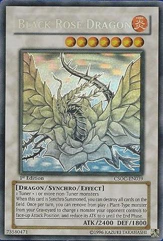Yugioh Crossroads of Chaos - Black Rose Dragon Ghost Rare Foil Card Gcsoc-en039