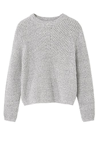 mango-kids-pull-over-jaspe-pull-coton-taille11-12-ans-couleurgris