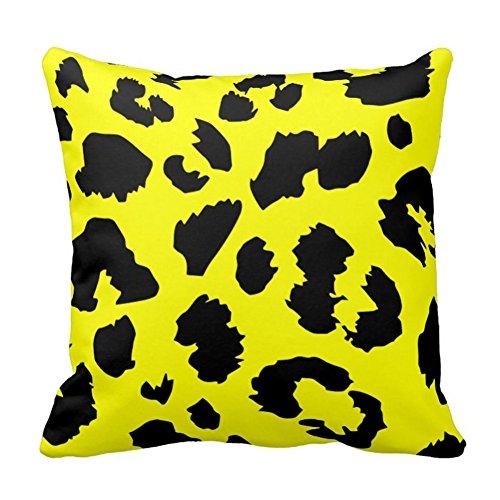Animal Panther Print dekorativer Überwurf-Kissenbezug, Color1, 20x20 inch (Animal-print Körper Kissenbezug)