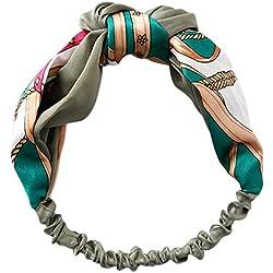 CAOLATOR Venda De Pelo Diadema Accesorios Yoga Diademas de Retro Rayado de Tejido Cruzado Elástica Turbante Para Mujeres (Color 1)