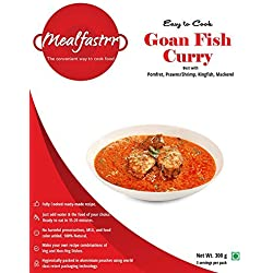 Mealfastrr Goan Fish Curry Ready to Cook and Eat Indian Meal Gravy Masala Curry, 300 gms