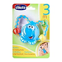 Chicco Fun Teething Rattle Elephant Baby Teether Toy [Blue]