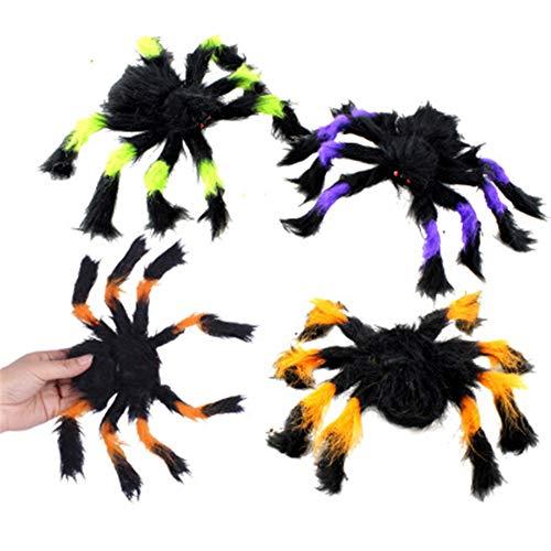 College Halloween Streich - MYYXGS Black Spider Halloween Dekoration Spukhaus