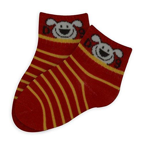 Chaussettes enfants Dog - Rouge, 0 - 3 ans