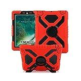 Meiya iPad Mini Coque, New Robuste RšŠsistant aux Chocs saletšŠ Neige Sable Proof Survivor Extreme Heavy Duty Enfant Cadeau Pochette avec Support pour Apple iPad Mini 1 2 3(Red+Black)