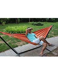 HBZLL La alta calidad 1 persona 280x100cm algodón colorido de la lona de la hamaca al aire libre cubierta de jardín columpio colgante cama con el bolso