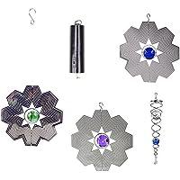 Direct Kinetic 3D Helix Metal Garden Wind Spinner, Copo de Nieve, 15 cm
