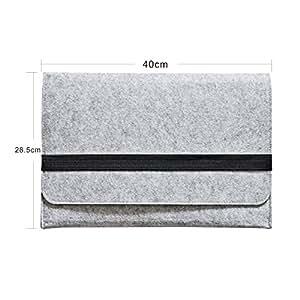"""iProtect Schutzhülle MacBook Pro 15"""" Zoll Filz Sleeve Hülle Laptop Tasche grau"""