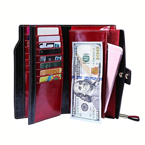 Zoom IMG-1 portafoglio donna in pelle rotezione