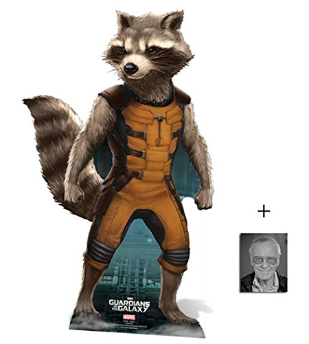ley Cooper) Marvel Guardians Of The Galaxy Lebensgrosse Pappaufsteller mit 25cm x 20cm foto (Hollywood-thema Dekoration)