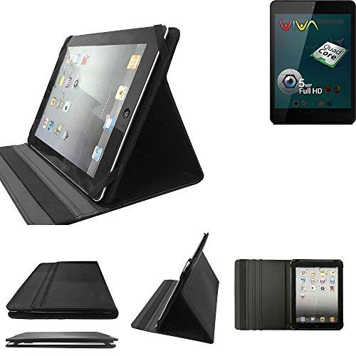 K-S-Trade Allview Viva Q8 Schutz Hülle Business Case Tablet Schutzhülle Flip Cover Ultra Slim Bookstyle Tasche für Allview Viva Q8, schwarz. Kunstleder Qualitätsware