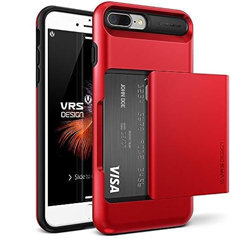 iPhone 7 Plus Case, VRS Design [Apple Red] Shockproof Sliding
