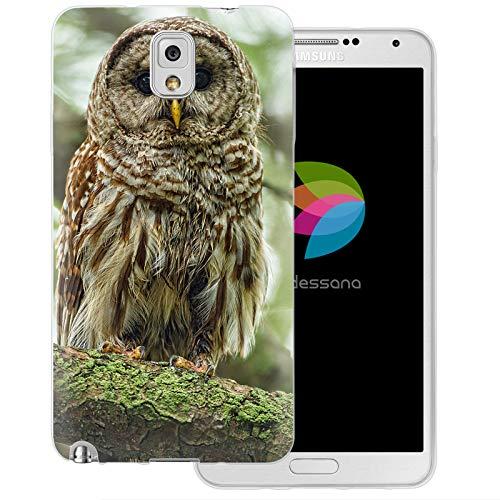dessana Eule Uhu transparente Schutzhülle Handy Case Cover Tasche für Samsung Galaxy Note 3 Eule Vogel (Eule Handy Cover Für Note 3)