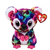 Claire\'s Girl\'s Ty Beanie Boo Small Scout the Koala Bear Soft Toy Rainbow
