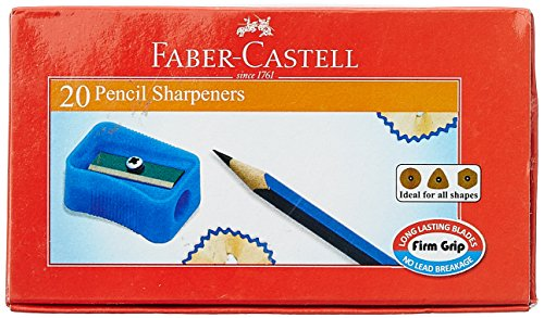 Faber-Castell Pencil Sharpner - Pack of 20 (Assorted)