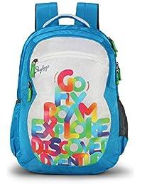 Skybags Bingo Plus 35.9856 Ltrs Blue School Backpack (SBBIP05BLU)
