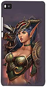 PRINTVISA Hot Girl Case Cover For Huawei Ascend P8