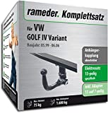 Rameder Komplettsatz, Anhängerkupplung abnehmbar + 13pol Elektrik für VW Golf IV Variant (112993-01995-2)