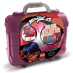 MULTIPRINT Travel Set valigetta in plastica Miracolous - Juegos de Sellos para niños, Niño/niña, 3 año(s), Miracolous, 230 mm, 105 mm