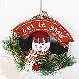 Weihnachtskranz dekoriert Türen und Fenster Girlande Durchmesser 20cm , 1 , 20cm