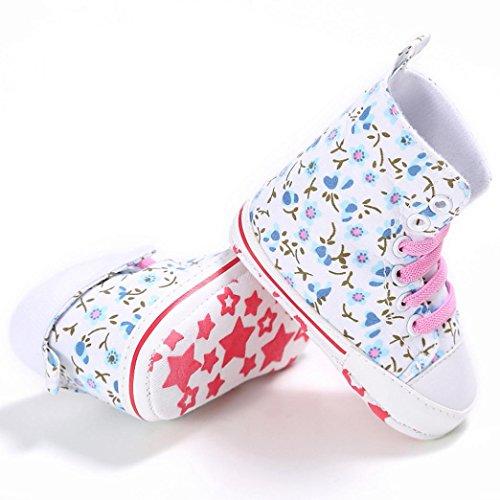 Canvas Igemy Baby 1paar rutsch Prewalker Niedlich Kleinkind Anti Weiß Soft Schuhe I6qfTw6a
