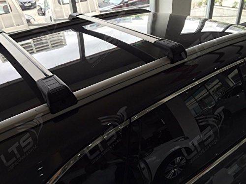 Fiat 500 x verrouillable Barre de toit Barres de croix 2015 à partir de 75 kg